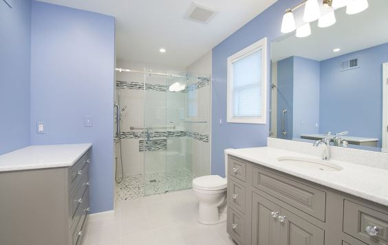Mirror Bathroom cabinet Plumbing fixture Sink Cabinetry Tap Property Building Bathroom sink Blue