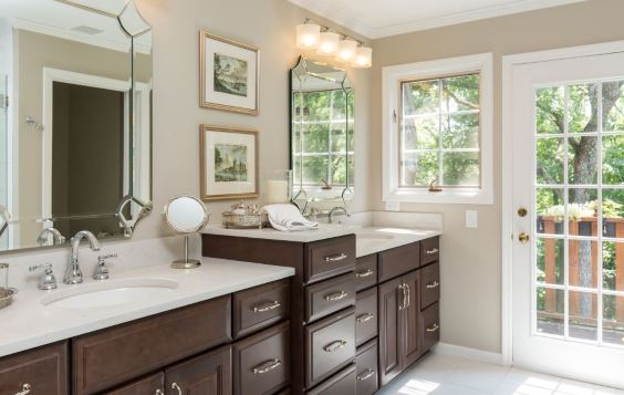 Cabinetry Sink Property Mirror Bathroom cabinet Furniture Tap Window Fixture Wood
