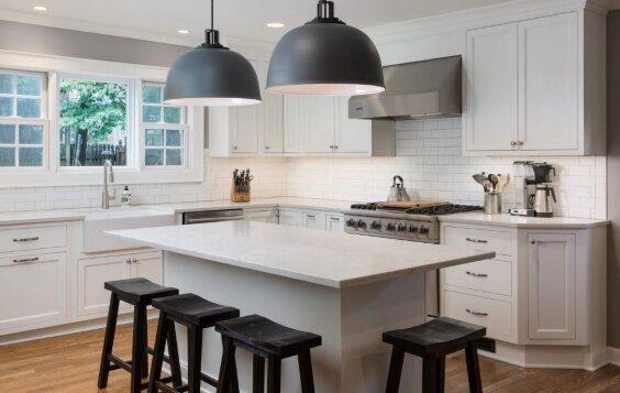 Cabinetry Countertop Property Furniture White Kitchen Wood Window Kitchen appliance Interior design
